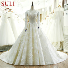 SL-117 High Quality Long Sleeve Lace Wedding Dress 2017