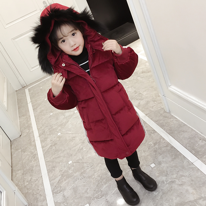Big Boy Girls Winter Coat Jacket 2017 New Korean Version of The Children In The Long Section of Cotton Coat Thickness цены онлайн