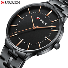 2019 Top Brand CURREN Luxury Quartz Watches for Men Wrist Watch Classic Black Stainless Steel Strap Mens Watch Waterproof 30M