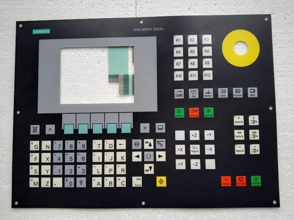 SINUMERIK 802CE 6FC5501 0AB11 0AA0 Membrane Keypad for HMI Panel repair do it yourself New Have