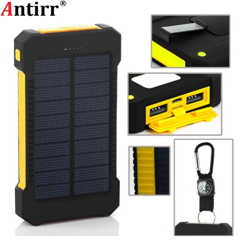 Battery Charger Cases 12000mah Solar Battery Charger Dual Usb Power Bank 5v Phone Battery Charger External Battery Charger For Iphone 7 8 Xiaomi Fixing Prices According To Quality Of Products Phone Bags & Cases