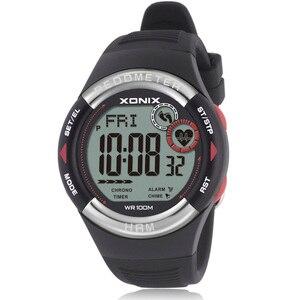 Image 1 - חם!! מד צעדים קצב לב צג קלוריות BMI גברים ספורט שעונים עמיד למים 100m נשים דיגיטלי שעון ריצה צלילה שעוני יד