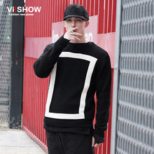 VIISHOW Sweaters And Pullovers Male Black Knitting Round neck Man Casual Brand Knitted Sweater Fashion Pullovers Homme Masculino