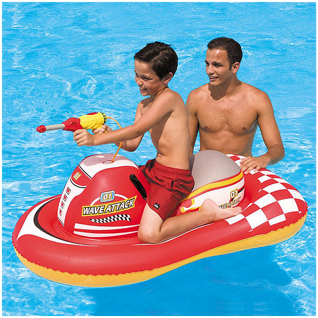 Hot Sale Inflatable Floats Pool Toys 140*84CM Swimming Child Water Gun Toy Children And Adult Motorboat PVC