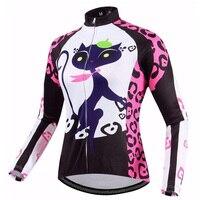 Cat Girl Long Sleeve Cycling Jersey Women