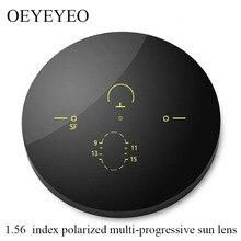 1.56 Index Polarized UV Protection Sun Lenses Multifocal Prescription Sunglasses Optical Progressive Verifocal Gray Brown