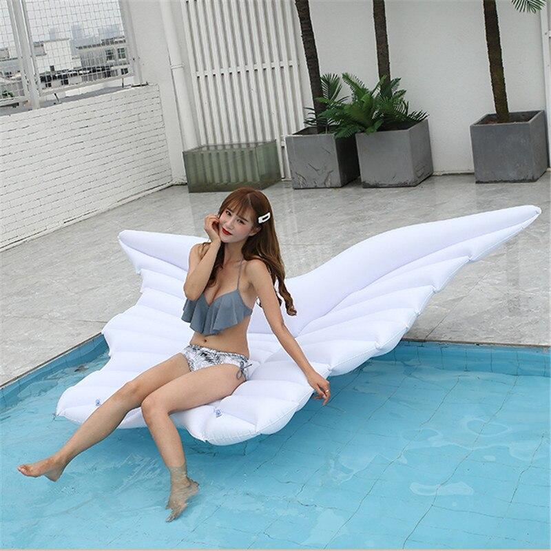 Rooxin flotteur piscine matelas gonflable plage 250cm ailes d'ange femmes anneau de natation cercle de natation pour adultes jouets de fête d'été - 6