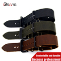 Genuine Leather High Quality / 20MM / 22MM / 24MM /26MM Strap  Black Brown Gray Strap Watch Band The New fashion For NATO Straps