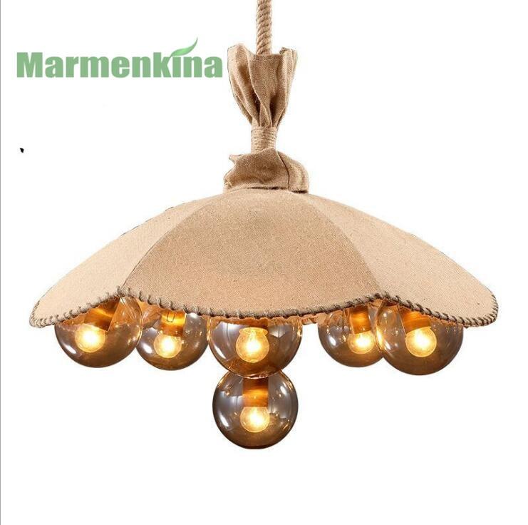 Pays américain rétro créatif magique haricots chanvre corde linge couverture parapluie lustre restaurant vêtements magasin lampes décoratives - 2