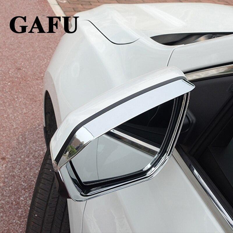 Voiture autocollants pour hyundai kona 2018 ABS Chrom rétroviseur visière pluie sourcils couverture soleil pluie garde de pluie bouclier déflecteur 2 pièces
