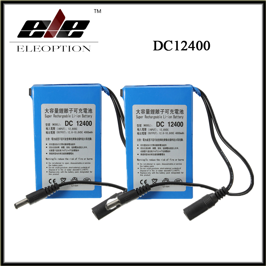 2 pcs High Quality Super Rechargeable Portable Lithium-ion Battery <font><b>DC</b></font> 12V 4000mAh DC12400 With Plug + Charger image