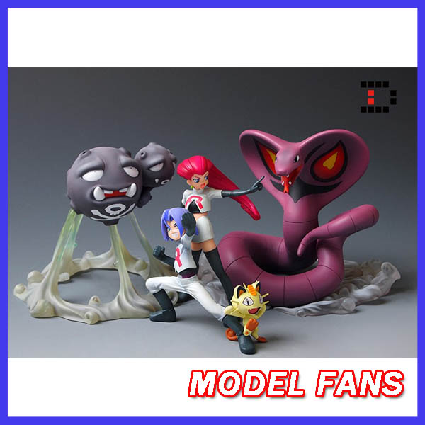 MODEL FANS INSTOCK 16cm Pocket Monsters Weezing and Arbok GK resin made for Collection(not contain Team Rocket and cat) large 24x24 cm simulation white cat with yellow head cat model lifelike big head squatting cat model decoration t187