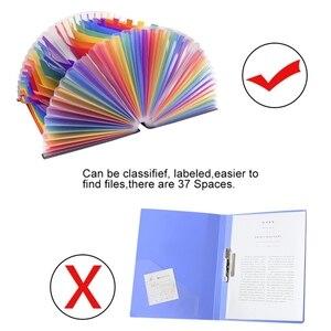 Image 2 - 37กระเป๋าขยายแฟ้มโฟลเดอร์A4ขนาดใหญ่พลาสติกขยายแฟ้มOrganizerยืนAccordionsโฟลเดอร์สำหรับเอกสารธุรกิจ