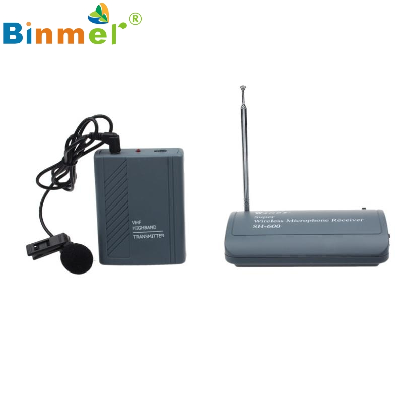 SH 600 Professional Transmitter Wireless Microphone Clip On Mic Receiver