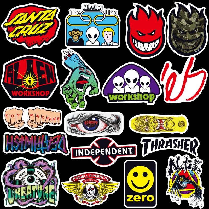 100 Stücke Gemalt Logo Anime Notebook Ipad Kühlschrank Skateboard Auto Tapete Aufkleber