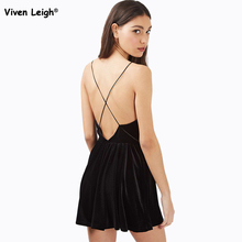 Brand New Women Playsuit Sexy Flare Velvet Spaghetti Strape Romper Urban Outfitters Pleated Shorts