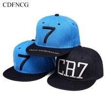 CDFNCG 2019 Fashion Hip Hop Snapback Baseball Cap Streetwear Embroidery Cristiano  Ronaldo 7 Sun Hat for c5b27305ddbc