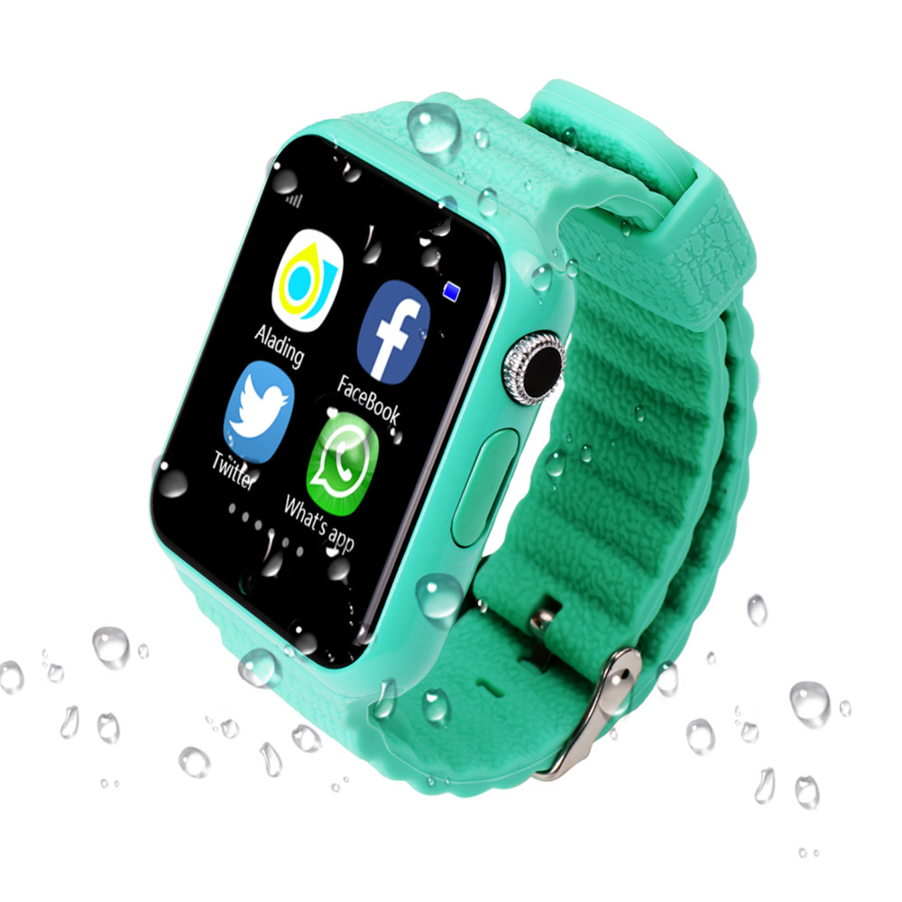 Original V7K GPS Bluetooth montre intelligente pour enfants garçon fille Apple Android téléphone Support SIM/TF cadran appel et Message poussoir-in Montres connectées from Electronique    3