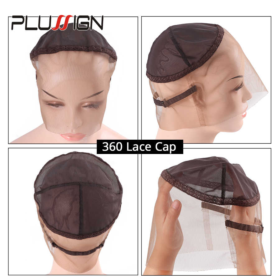 Three Style Can Choose Front/ 360/ Full Swiss Lace Wig Cap For Making Wigs Factory Supply Wholesale Lace Wig Net For Black Women