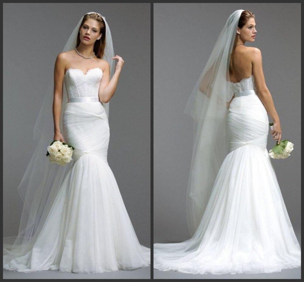 free shipping hot sexy sweetheart 2018 new style romantic casamento vestido de noiva lace vintage mermaid bride   bridesmaid     dress