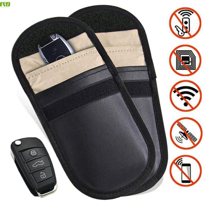 FLYJ 1 pz Sacchetto di chiave Dellautomobile Auto Fob Segnale Bloccante Faraday Sacchetto di Segnale di Blocco Bag Schermatura Cassa Del Raccoglitore Del Sacchetto Per protezione della PrivacyFLYJ 1 pz Sacchetto di chiave Dellautomobile Auto Fob Segnale Bloccante Faraday Sacchetto di Segnale di Blocco Bag Schermatura Cassa Del Raccoglitore Del Sacchetto Per protezione della Privacy