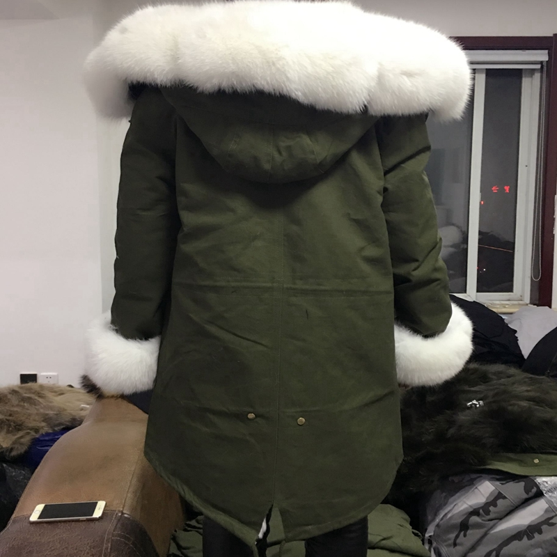 2018natural Fox fur coat krave kanin hårforing fraktion overvinde - Dametøj - Foto 5