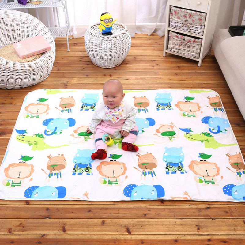 110*158cm Mattresses 3 Layers Cotton Soft Baby Diaper Waterproof Protection Crib Sheets Active Cushion Colchitas Para Bebe 2019