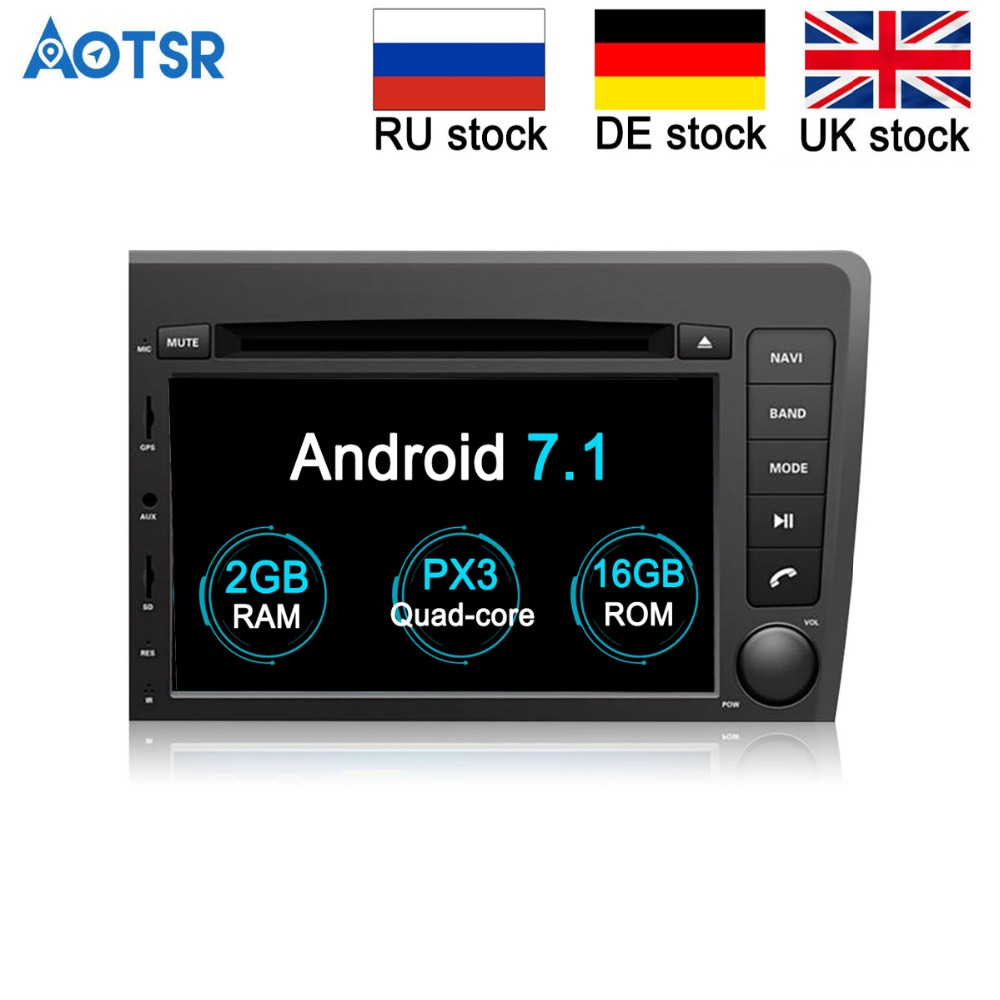 Android 7 1 Quad Core Car DVD CD Player autostereo GPS navigation for VOLVO S60 V70