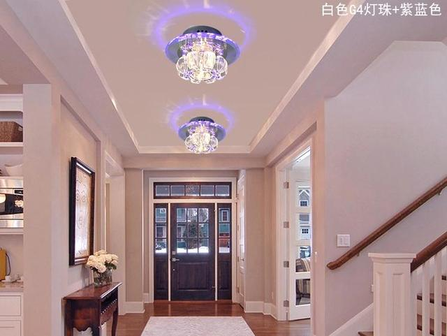 3w Hallway Light Crystal Ceiling Light Fixture With