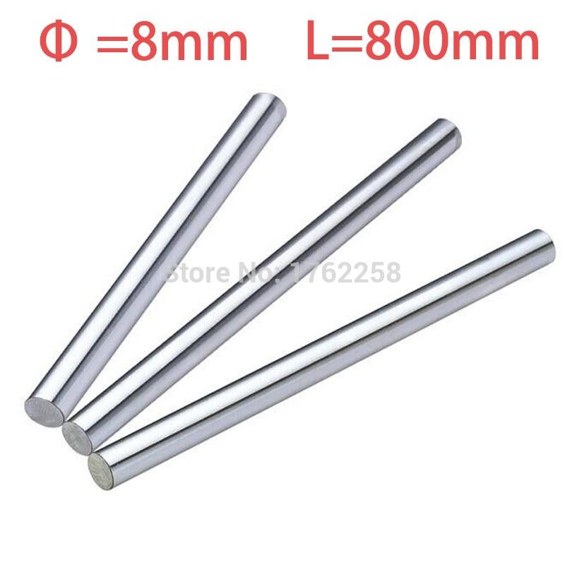 2pcs 8mm 8x800 linear shaft 3d printer 8mm x 800mm Cylinder Liner Rail Linear Shaft axis cnc parts 4pcs 8mm 8x700 linear shaft 3d printer 8mm x 700mm cylinder liner rail linear shaft axis cnc parts