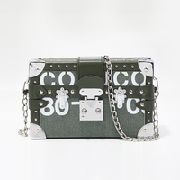 2019 Newest Flap Box Three Types Chain Panelled Shoulder Messenger Bags Women Clutch Purses Handbags