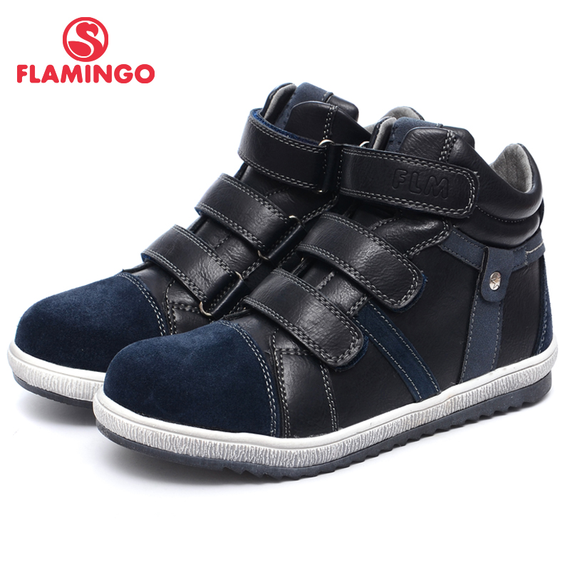 QWEST (FLAMINGO) Autumn Felt Anti-slip Fashion Kids Boots High Quality Kids Shoes For Boys Size 31-36 Free Shipping W6XY231/232