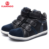 QWEST (FLAMINGO) Autumn Felt Anti slip fashion kids boots high quality kids shoes for boys Size 31 36 Free shipping W6XY231/232