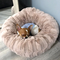 plush puppy pet Cave pet Dog House Bed nest Soft Cat Sleeping Bag puppy Dog Beds For Small Dogs Thick warm deep sleep Dog Kennel