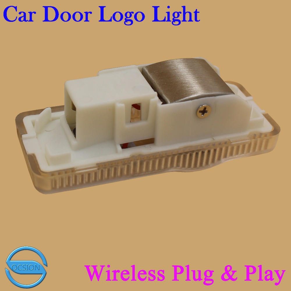 2pcs Car Door Logo Projector Laser Light For Peugeo 407 2009-2010 Wireless 3D Ghost Shadow Warning Lamp