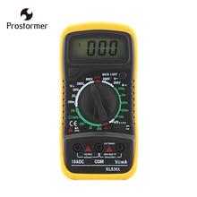 Prostormer AC/DC Digital Multimeter Electric Handheld Tester Meter Auto Range Digital Voltmeter Ohmmeter Backlight Multimeter