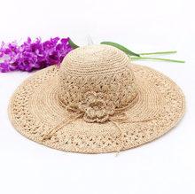 e002110710e Sun Hat Hand Made Light Female Sea Boater Chic Summer Brim 100% Nature  Madagascar Raffia Straw Sun Hat Women Luxury Sun Hats