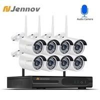 Jennov 8CH 1080P HDMI WiFi NVR IR Outdoor Weatherproof CCTV Wireless IP Camera Security Video Surveillance System Camera Wifi