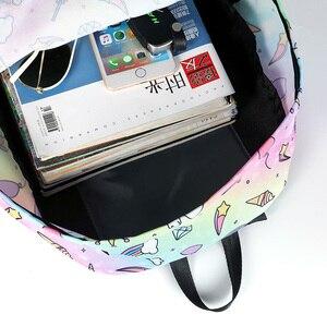 Image 5 - Modny plecak dla kobiet kobiety jednorożec mały ładny plecak torby podróżne dla nastoletnich dziewcząt plecak bagpack bag