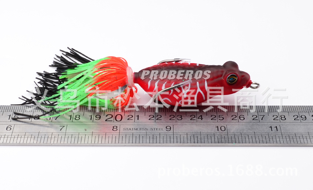 Silicone Soft Frog Fishing Lure 63 5mm 14g Lifelike Topwater Floating Jump Frog With Hook Artificial Wobbler bait For Lake River in Fishing Lures from Sports Entertainment