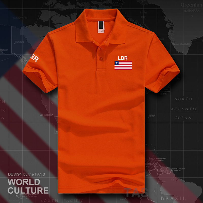 Liberia Liberian   polo   shirts men short sleeve white brands printed for country 2017 cotton nation team flag new fashion LR LBR