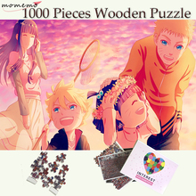MOMEMO Naruto Family Wooden Puzzle Jigsaw 1000 Pieces Customized Adults Teenagers Toys Games