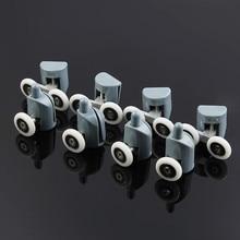 8* душевые комнаты ролик дверцы кабины и душевая комната ролик/полозья/колеса/шкивы диаметр 22 мм(4 двойной верх+ 4 singel дно