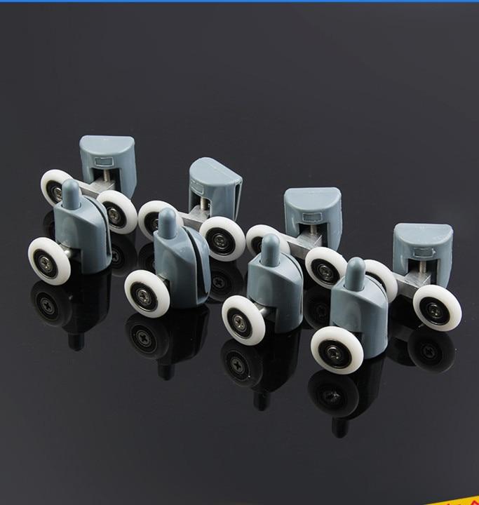 8 * Cabines de banho Com duche Polia & Rolo de banho com Duche/Corredores/Rodas/Polias de Diâmetro 22mm (4 topo duplo + 4 singel inferior)