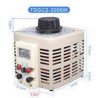 Single Phase Voltage Regulator Variac Adjustable Power Converter Voltage Transformer Input 220V 2000W 2KVA Output 0 250V Y