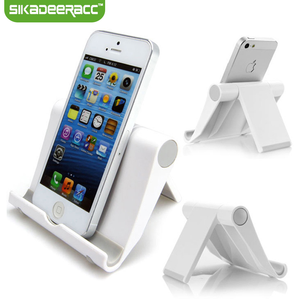SA68 Universal Plastic Mobile Phone Holder For iPhone 5 5s 6 6s Plus SE Samsung Smartphone Tablet Mount Dock Accessory Stand