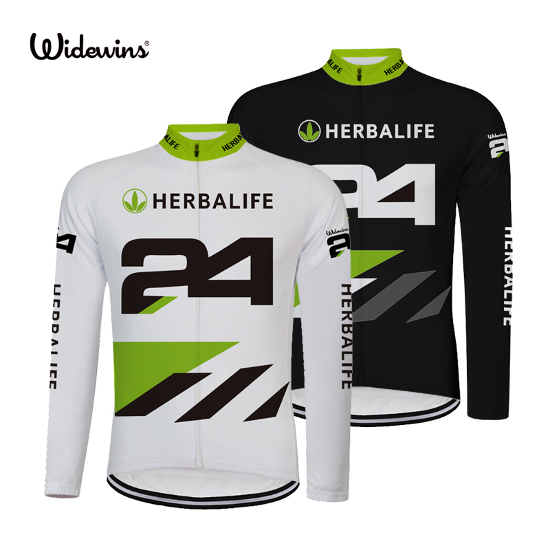 Hot Sale herbalife Team Cycling Jersey Wear Bike Riding Long Sleeve Shirt Garments 3 Rear Pockets Back Tops Uniforms Gear 8009