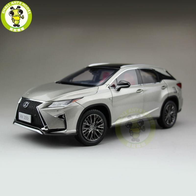 1/18 Toyota Lexus RX 200 т RX200T литья под давлением модели автомобиля внедорожник хобби коллекции подарки серебро