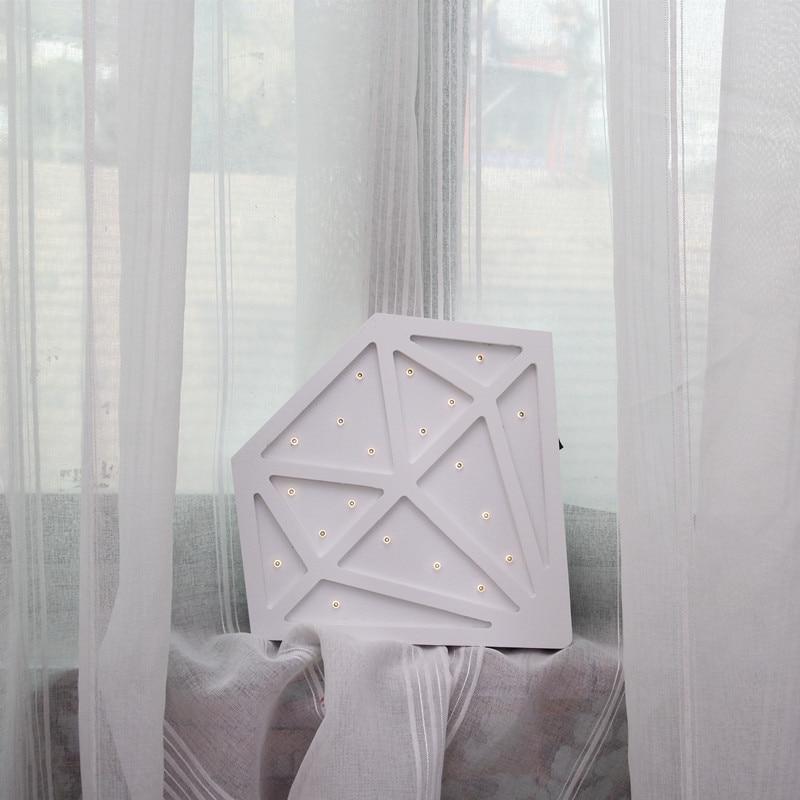 Diamond Nordic Kid's decoración de la habitación LED lámpara de - Iluminación de vacaciones - foto 6