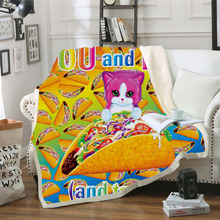 Plstar Cosmos Lisa and Frank Cartoon Blanket 3D print Sherpa on Bed Kids Girl Flower Home Textiles Dreamlike style-12